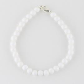Bransoletka perły białe mleczne0,6cm 43/54 BRA2764