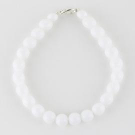 Bransoletka perły białe mleczne 0,8cm 43/59BRA2766