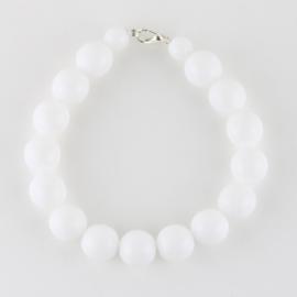 Bransoletka perły białe mleczne1,2cm 43/66 BRA2768