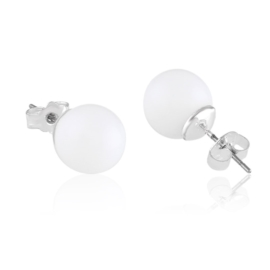 Kolczyki czeskie perła biała ml.1,2cm 43/5 EA3325