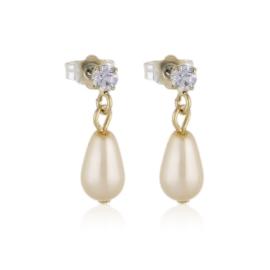 Kolczyki wiszące czeskie perła ecru 53/200 EA3329