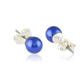 Kolczyki perła czeska niebieska 43/104 EA3331