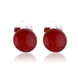Klipsy czeskie perła czerwona 1,5cm 43/106 EA3332