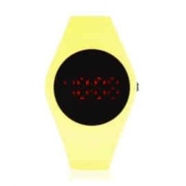 Zegarek silikonowy LED - żółty neon Z1606