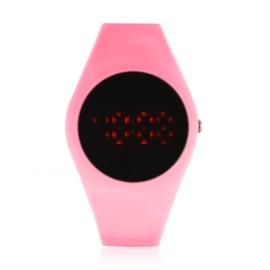 Zegarek silikonowy LED - różowy neon Z1607