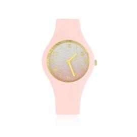 Zegarek silikonowy - jasny róż glitter Z1608
