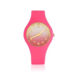 Zegarek silikonowy - róż glitter Z1610