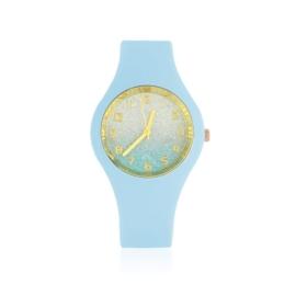 Zegarek silikonowy - niebieski glitter Z1611