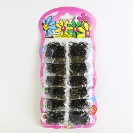 Gumki do włosów - recepturki - czarne- OG676