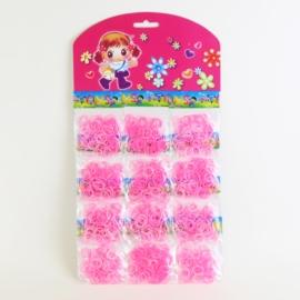 Gumki do włosów - recepturki- różowe - OG680