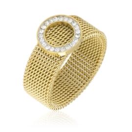 Pierścionek z siatki stalowej - Xuping PP2672