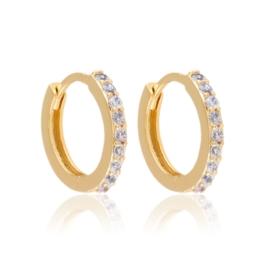 Kolczyki kółeczka z kryształkami - Xuping EAP13655