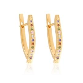 Kolczyki kły z kryształkami Xuping EAP13661