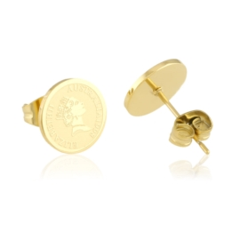Kolczyki sztyfty - monetki - Blueberry EAP13671