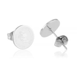 Kolczyki sztyfty - monetki - Blueberry EAP13672