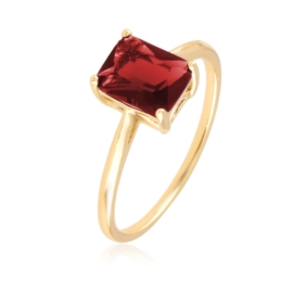 Pierścionek z kamieniem - red - Xuping PP2690