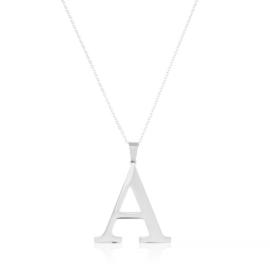 Celebrytka stal - literka A silver Xuping - CP3683