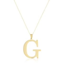 Celebrytka stal - literka G gold Xuping - CP3690