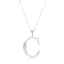 Celebrytka stal - literka C silver Xuping - CP3694