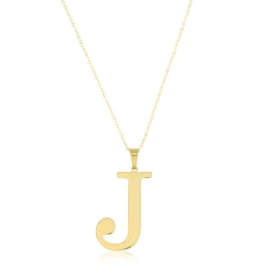 Celebrytka stal - literka J gold Xuping - CP3697