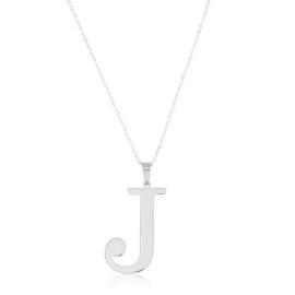 Celebrytka stal - literka J silver Xuping - CP3698