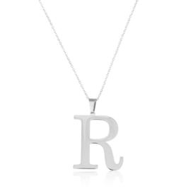 Celebrytka stal - literka R silver Xuping - CP3711