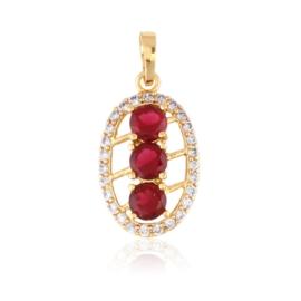 Przywieszka z kryształkami - red - Xuping PRZ2513