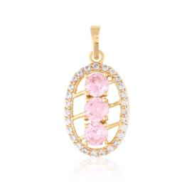 Przywieszka z kryształkami - pink - Xuping PRZ2514