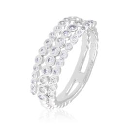 Pierścionek z kryształkami - Xuping PP2704