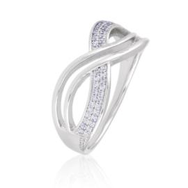 Pierścionek z kryształkami - Xuping PP2705