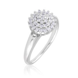 Pierścionek z kryształową koroną - Xuping PP2713
