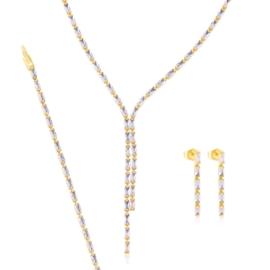 Komplet biżuterii ślubnej - Xuping - SKO82