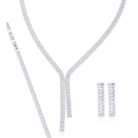 Komplet biżuterii ślubnej - Xuping - SKO83