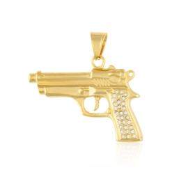Przywieszka stal pistolet - Xuping PRZ2523