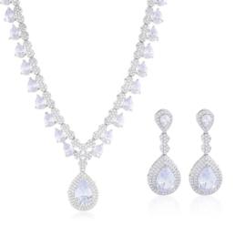 Komplet biżuterii ślubnej - Xuping - SKO92