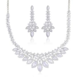 Komplet biżuterii ślubnej - Xuping - SKO93