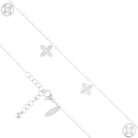Bransoletka stal na kostkę - Blueberry - BP6624