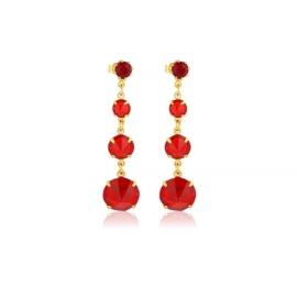 Kolczyki czerwony kryształ wiszące 63/35 EA3335