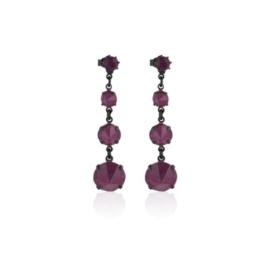 Kolczyki fioletowy kryształ wiszące 63/35 EA3336
