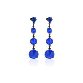 Kolczyki niebieski kryształ wiszące 63/35 EA3339