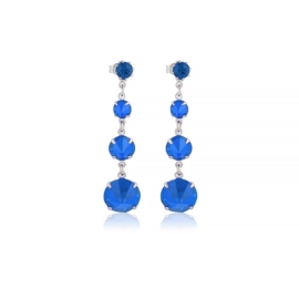 Kolczyki niebieski kryształ wiszące 63/35 EA3342