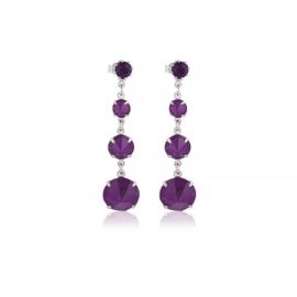 Kolczyki fioletowy kryształ wiszące 63/35 EA3343