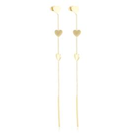 Kolczyki wiszące - serduszka - Xuping EAP13975