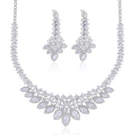 Komplet biżuterii ślubnej Xuping - SKO98