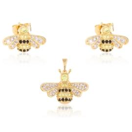 Komplet biżuterii - pszczoły - Xuping PK530