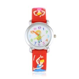 Zegarek dziecięcy baletnica - czerwony - Z1721