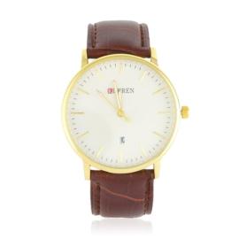 Zegarek męski na pasku - brązowy - Z1736