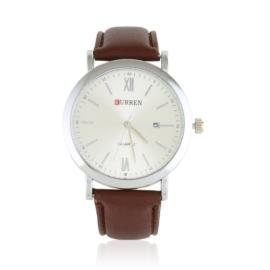Zegarek męski na pasku - brązowy - Z1739