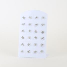 Kolczyki na peletce 12szt - rozgwiazdy - EA3356