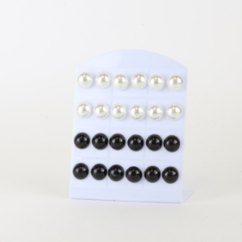 Kolczyki na peletce 12szt - perełki - EA3360